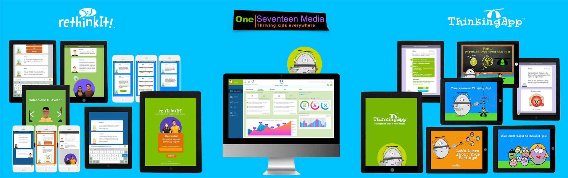 OneSeventeen Media Products Collage
